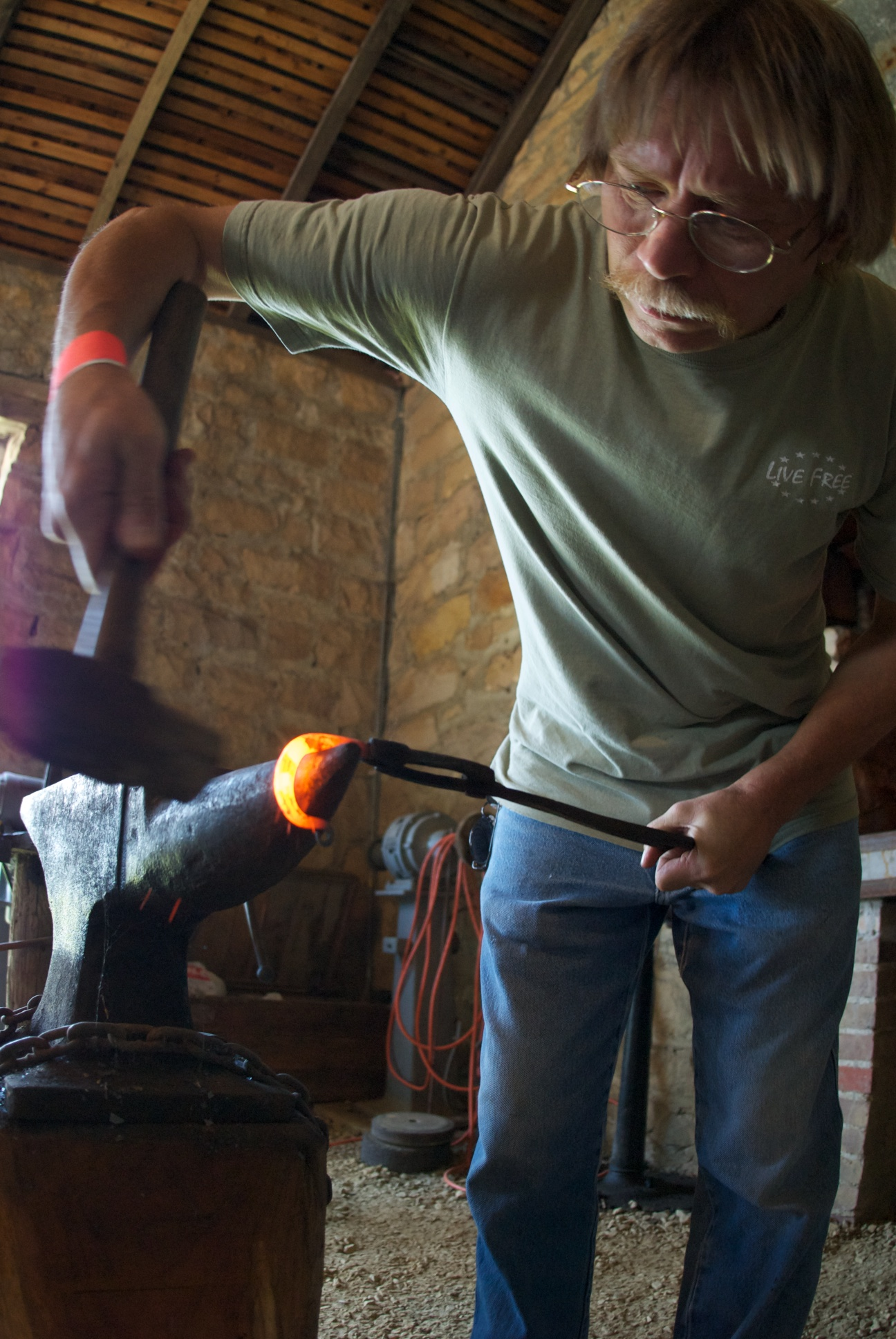 Blacksmith Demonstrations at the NDF